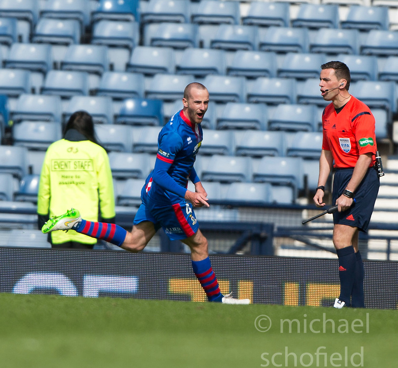 Inverness Caledonian Thistle's James Vincent cele scoring their second goal. Falkirk 1 v 2 Inverness CT, Scottish Cup final at Hampden.
