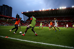 General view of Charlton Athletic players before the game