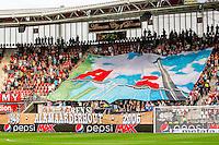 ALKMAAR - 10-09-2016, AZ - Willem II, AFAS Stadion, spandoek 60 jaar betaald voetbal. prachtstad