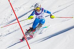 10# Muzaferija Elvedina from Bosna and Herzegovina during the slalom of National Championship of Slovenia 2019, on March 24, 2019, on Krvavec, Slovenia. Photo by Urban Meglic / Sportida