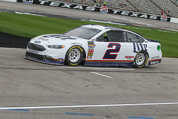 April 6, 2018 - Fort Worth, TX, U.S. - FORT WORTH, TX - APRIL 06: Monster Energy NASCAR Cup Series driver Brad Keselowski (2) drives down pit road during practice for the O'Reilly Auto Parts 500 on April 6, 2018 at Texas Motor Speedway in Fort Worth, Texas.  (Photo by George Walker/Icon Sportswire) (Credit Image: © George Walker/Icon SMI via ZUMA Press)