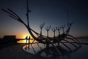 Sun Voyager Romance in Reykjavik, Iceland