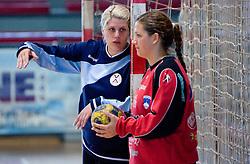 Branka Zec and Misa Marincek (L) at practice of Slovenian Handball Women National Team, on June 3, 2009, in Arena Kodeljevo, Ljubljana, Slovenia. (Photo by Vid Ponikvar / Sportida)