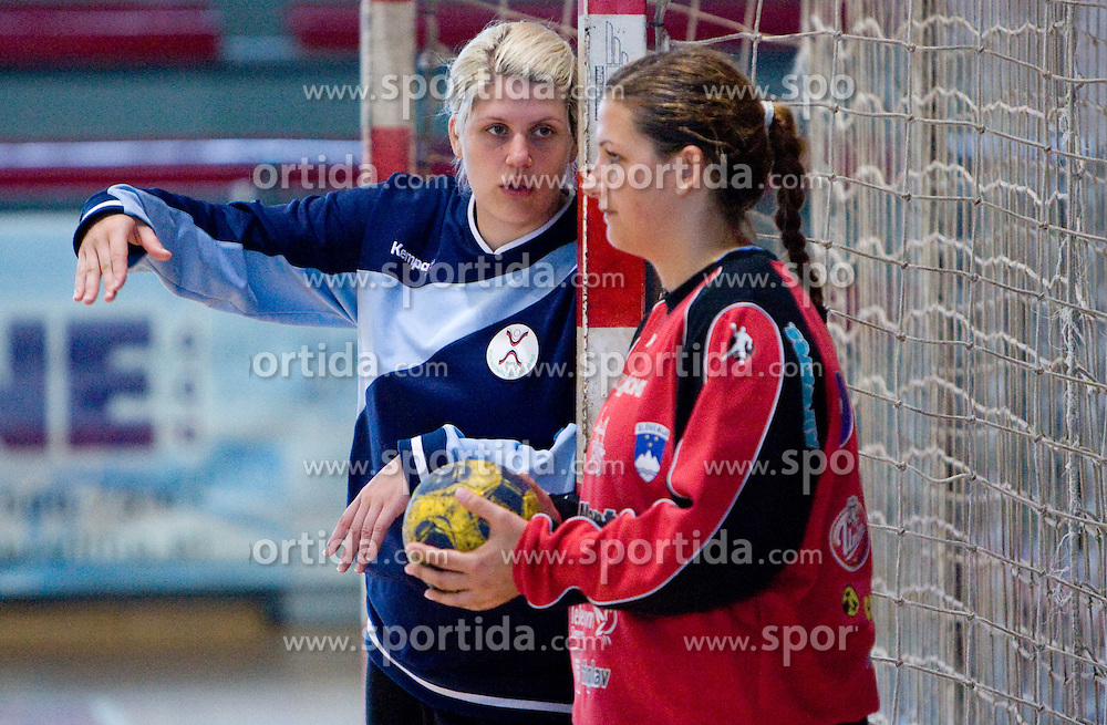 Branka Zec and Misa Marincek (L) at practice of Slovenian Handball Women National Team, on June 3, 2009, in Arena Kodeljevo, Ljubljana, Slovenia. (Photo by Vid Ponikvar / Sportida)