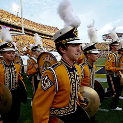 Sep 18, 2010; Baton Rouge, LA, USA;  The LSU Tigers band on the field prior kickoff of a game between the LSU Tigers and the Mississippi State Bulldogs at Tiger Stadium. The LSU Tigers defeated the Mississippi State Bulldogs 29-7. Mandatory Credit: Derick E. Hingle
