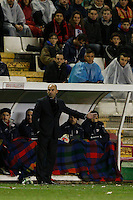 10.02.2013 SPAIN -  La Liga 12/13 Matchday 23th  match played between Rayo Vallecano vs Atletico de Madrid (2-1) at Campo de Vallecas stadium. The picture show Paco Jemez coach of Rayo Vallecano