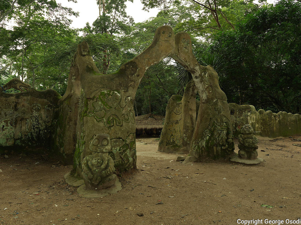 The first palace, is where the first Ataoja (Oba) of Osogbo, Larooye and his people first settled. It is located in the Osun courtyard and it houses the Osun shrine and the temple. The temple contains the sacred stone stool, the rock of authority of the Oba used some 500 years ago.