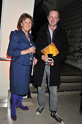 LADY AMABEL LINDSAY and JOHNNIE SHAND-KYDD at a private view of the V&A's exhibition Golden Spider Silk held at the Victoria & Albert museum, London on 24t January 2012.