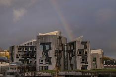 Rainbow over Parliament | Edinburgh | 23 November 2017