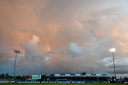 A pink sky is seen over the Memorial Stadium before Bristol Rovers play Wycombe Wanderers in the Johnstone Paint Trophy  - Mandatory byline: Dougie Allward/JMP - 07966 386802 - 06/10/2015 - FOOTBALL - Memorial Stadium - Bristol, England - Bristol Rovers v Wycombe Wanderers - JPT Trophy