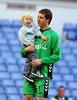 Aston Villa v Sheffield United Premier League (3-0) 05/05/2007<br /> Thomas Sorensen   (Aston Villa) and Daughter ? jion in end of season parade after match<br /> Photo Roger Parker Fotosports International