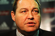 All Blacks forwards coach Steve Hansen talks to the media after the match.<br /> Philips Tri Nations, All Blacks vs South Africa at Westpac Stadium, Wellington, New Zealand, Saturday 5 July 2008. Photo: Dave Lintott/PHOTOSPORT