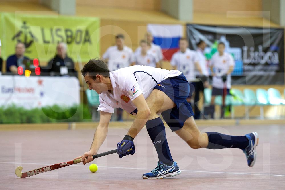 2017 EuroHockey Indoor Junior Championship (M)<br /> 12 Portugal - Russia<br /> Foto: Aleksandr Agafontsev.<br /> FFU PRESS AGENCY COPYRIGHT FRANK UIJLENBROEK