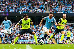 Ramadan Sobhi of Huddersfield Town takes on Aymeric Laporte of Manchester City - Mandatory by-line: Robbie Stephenson/JMP - 19/08/2018 - FOOTBALL - Etihad Stadium - Manchester, England - Manchester City v Huddersfield Town - Premier League