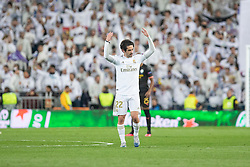 Real Madrid's Isco Alarcon celebrates goal during the UEFA Champions League round of 16 first leg match Real Madrid v Manchester City at Santiago Bernabeu stadium on February 26, 2020 in Madrid, Sdpain. Real was defeated 1-2. Photo by David Jar/AlterPhotos/ABACAPRESS.COM