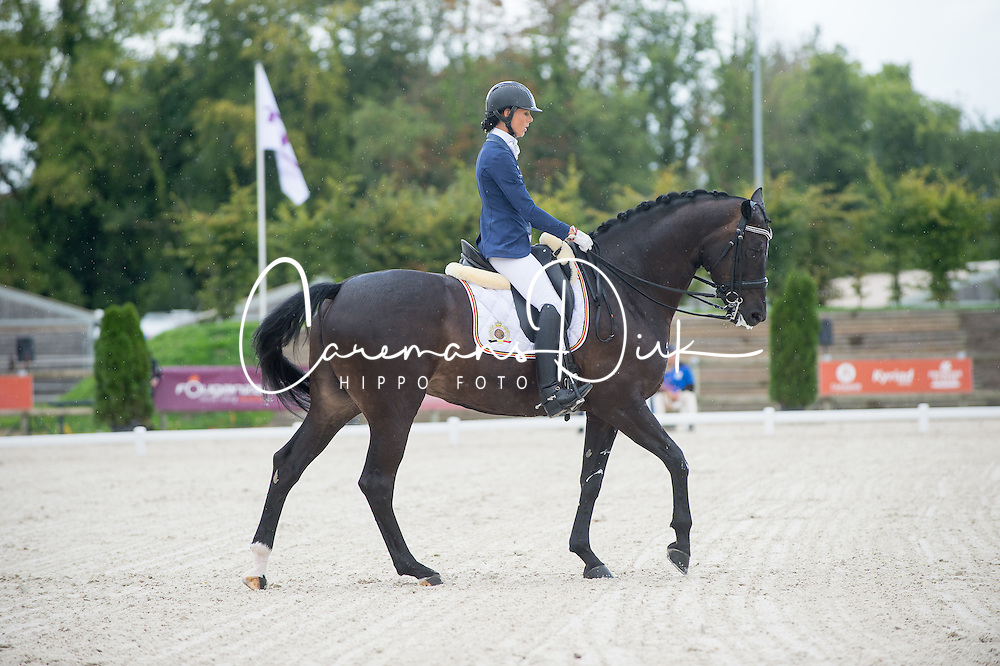 George Michele, (BEL), Sagaminne<br /> Grade IV Team Test<br /> Para-Dressage FEI European Championships Deauville 2015<br /> &copy; Hippo Foto - Jon Stroud<br /> 18/09/15