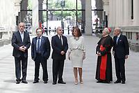 Vicente del Bosque (L), Rafael Matesanz (2L), Jose Varela Ortega (3L), Ana Botella and Rouco Varela (2R) during the Medalla de Oro de Madrid (Madrid´s golden medal) awards ceremony at Madrid´s city hall. May 5, 2014. (ALTERPHOTOS/Victor Blanco)