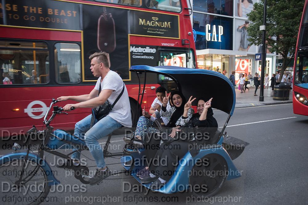 Pedicab, Oxford St. London, 21 July 2016