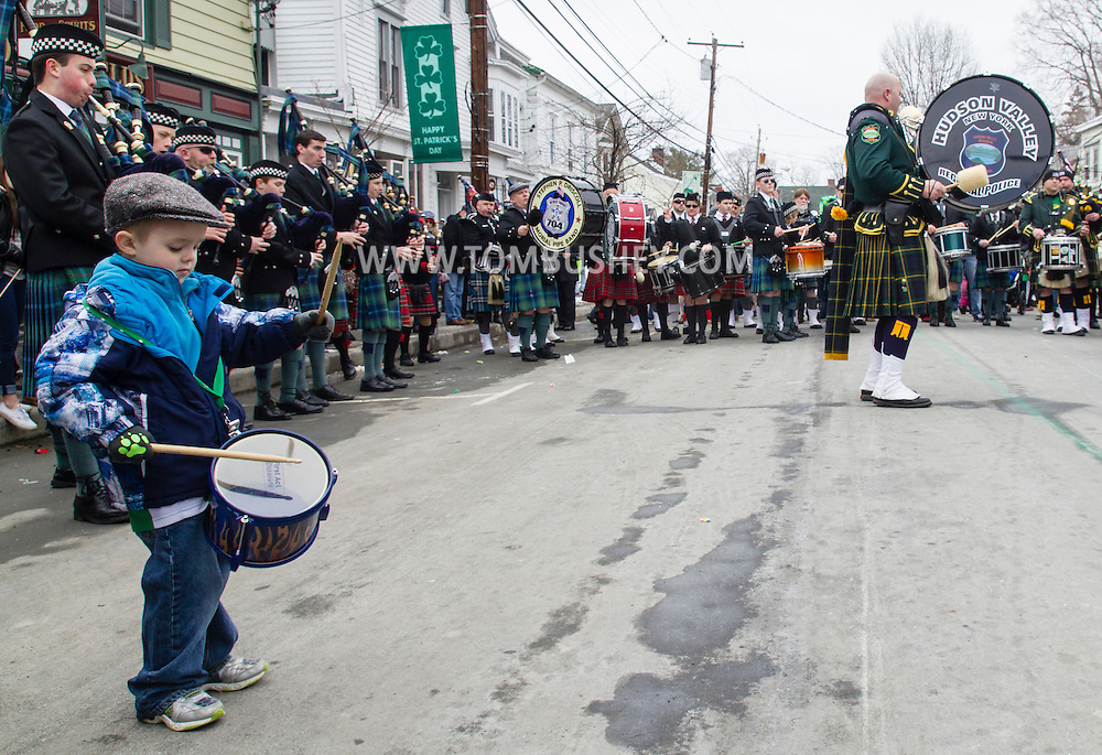 Montgomery, New York - People enjoy the Village of Montgomery St. Patrick's Parade on March 21, 2015.