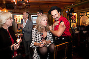 SONIA FRIEDMAN; MARK RYLANCE, Opening in the West end of the Royal Court's Jerusalem after a run on Broadway..<br /> WAXY O CONNORS, 14-16 RUPERT STREET, LONDON . 17 October 2011.  <br /> <br />  , -DO NOT ARCHIVE-© Copyright Photograph by Dafydd Jones. 248 Clapham Rd. London SW9 0PZ. Tel 0207 820 0771. www.dafjones.com.