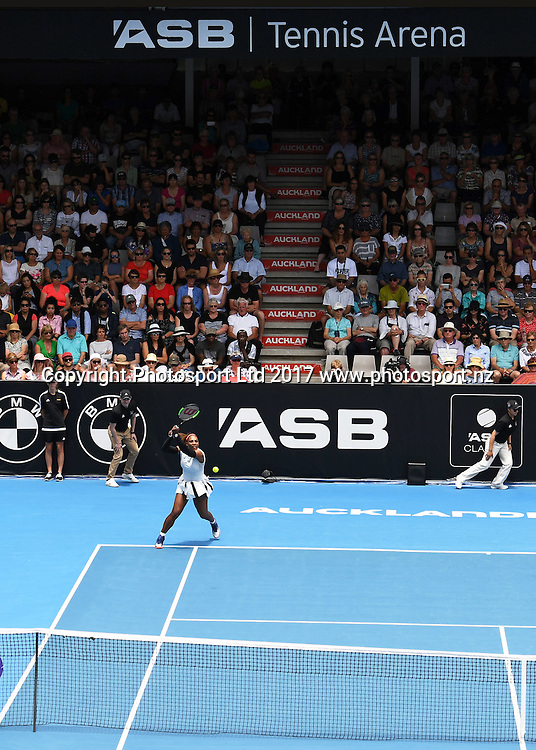 General view during Serena Williams' first round singles match at the ASB Classic. WTA Womens Tournament. ASB Tennis Centre, Auckland, New Zealand. Tuesday 3 January 2017. © Copyright photo: Andrew Cornaga / www.photosport.nz