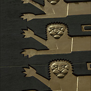 Three Lions Art Deco Sculptural relief on facade Rockefeller Center building.