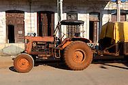 Tractor in Artemisa, Cuba.