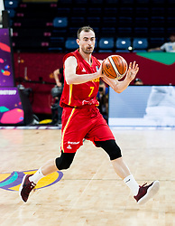 Nikola Pavlicevic of Montenegro during basketball match between National Teams of Latvia and Montenegro at Day 11 in Round of 16 of the FIBA EuroBasket 2017 at Sinan Erdem Dome in Istanbul, Turkey on September 10, 2017. Photo by Vid Ponikvar / Sportida