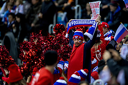 16-02-2018 KOR: Olympic Games day 7, PyeongChang<br /> Ice Hockey Russia (OAR) - Slovenia / Russia support, fans