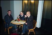 PAUL KILDEA; CHRIS RICKWOOD; PAUL SCHUTZE, Frieze party, ACE hotel Shoreditch. London. 18 October 2014