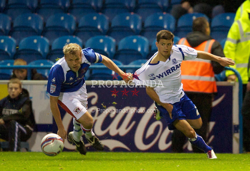 CARLISLE, ENGLAND - Tuesday, November 2, 2010: Tranmere Rovers' Dale Jennings in action against Carlisle United during the Football League One match at Brunton Park. (Pic by: David Rawcliffe/Propaganda)