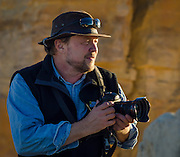 Photo instructor Ralph Lee Hopkins during the National Geographic Expeditions workshop at New Mexico's Historic Ghost Ranch.