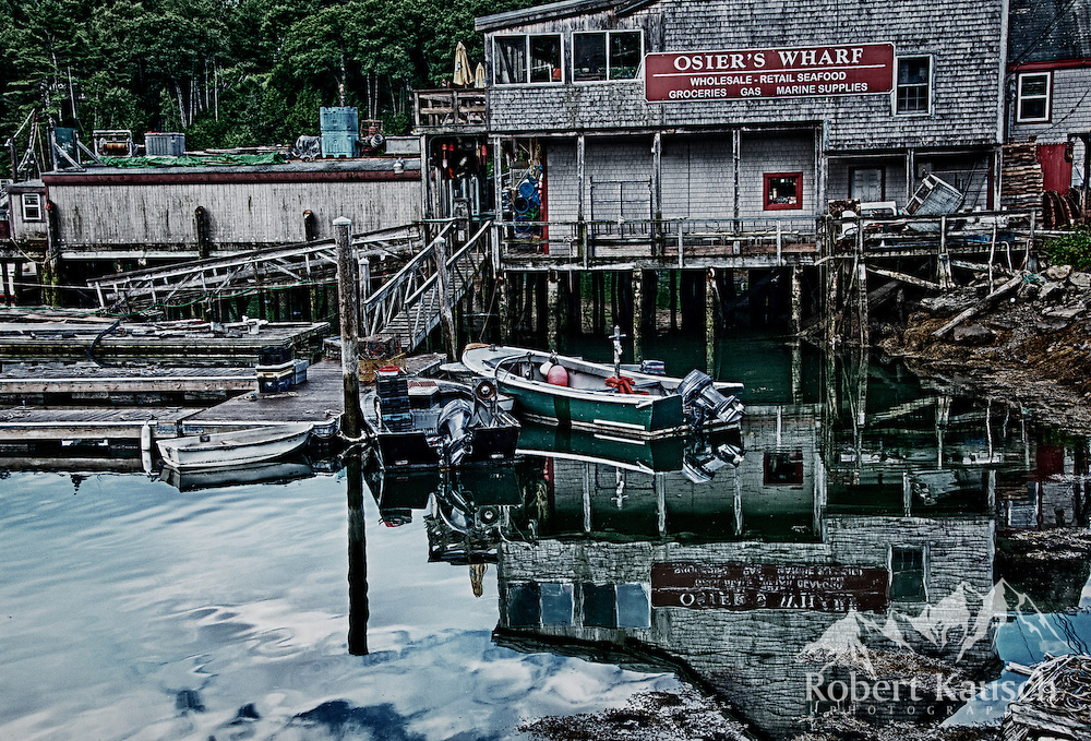 South Bristol is home to Osier's Wharf, in South Bristol - a working Maine fishing village