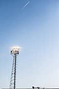 Floodlight at the City Ground during the The FA Cup 3rd round match between Nottingham Forest and Arsenal at the City Ground, Nottingham, England on 7 January 2018. Photo by Jon Hobley.