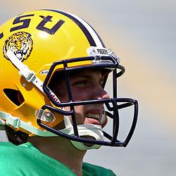 April 9, 2011; Baton Rouge, LA, USA; LSU Tigers quarterback Zach Mettenberger (8) during the 2011 Spring Game at Tiger Stadium.   Mandatory Credit: Derick E. Hingle