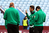 Ivo Pinto of Norwich explains something to his team mates before the Sky Bet Championship match at Villa Park, Birmingham<br /> Picture by Paul Chesterton/Focus Images Ltd +44 7904 640267<br /> 01/04/2017