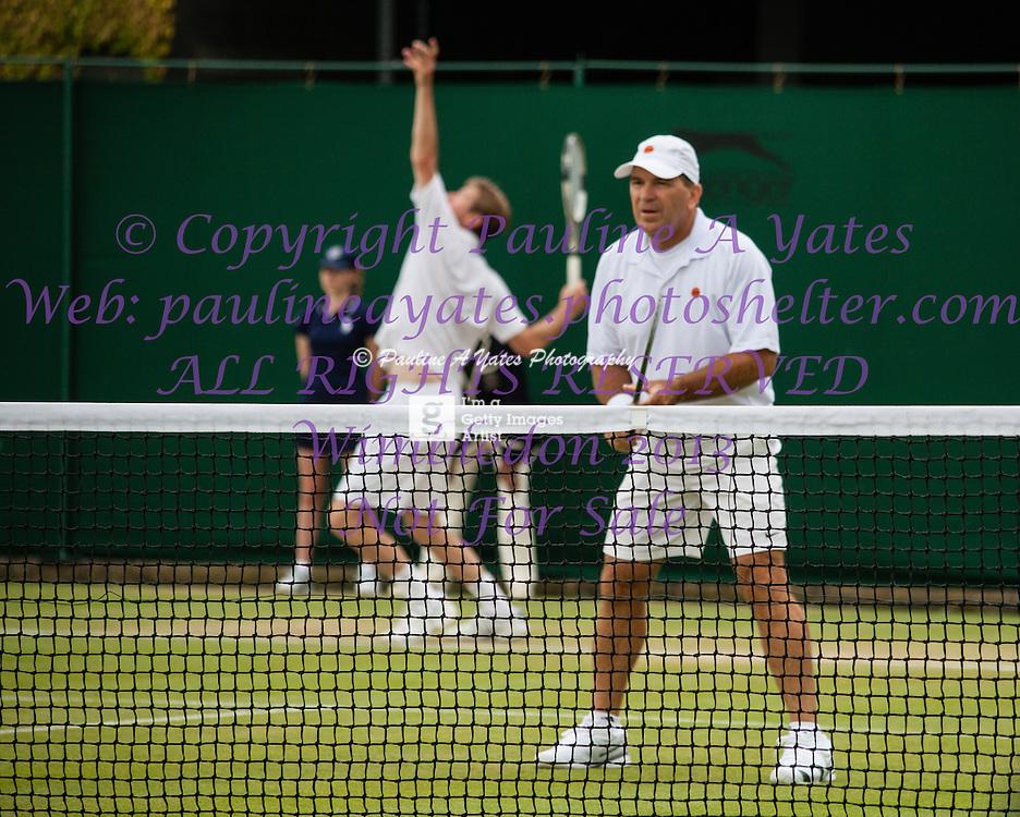 Wimbledon 2013<br /> <br /> Sr. Gents Invitation Doubles<br /> <br /> Court 14 at Wimbledon