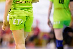 During handball match between ZRK Mlinotest Ajdovscina and RK Zagorje in 17th Round of Slovenian Women Handball League 2015/16 on April 6, 2016 in Sports hall Police Ajdovscina, Ajdovscina, Slovenia. Photo By Urban Urbanc / Sportida