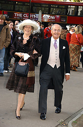 CAROLYN BENSON and NED RYAN at the wedding of Clementine Hambro to Orlando Fraser at St.Margarets Westminster Abbey, London on 3rd November 2006.<br />