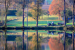 CZECH REPUBLIC VYSOCINA NEDVEZI 31OCT09 - View across the village pond in Nedvezi, Vysocina, Czech Republic...jre/Photo by Jiri Rezac..© Jiri Rezac 2009
