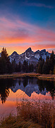 Teton Sunset vertical pano