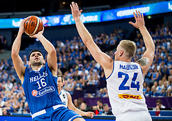Kostas Papanikolaou of Greece during basketball match between National Teams of Greece and Iceland at Day 1 of the FIBA EuroBasket 2017 at Hartwall Arena in Helsinki, Finland on August 31, 2017. Photo by Vid Ponikvar / Sportida