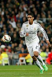 01.03.2015, Estadio Santiago Bernabeu, Madrid, ESP, Primera Division, Real Madrid vs FC Villarreal, 25. Runde, im Bild Varane of Real Madrid // during the Spanish Primera Division 25th round match between Real Madrid CF and Villarreal at the Estadio Santiago Bernabeu in Madrid, Spain on 2015/03/01. EXPA Pictures © 2015, PhotoCredit: EXPA/ Alterphotos/ Caro Marin<br /> <br /> *****ATTENTION - OUT of ESP, SUI*****