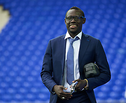 LIVERPOOL, ENGLAND - Saturday, March 12, 2016: Everton's Oumar Niasse arrives at Goodison Park before the FA Cup Quarter-Final match against Chelsea. (Pic by David Rawcliffe/Propaganda)