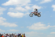 Michael Blose flies over a jump during the AMA Motocross Championship at Red Bud Track-N-Trail on July 6, 2008, in Buchanan, Mich..