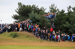 USA's Brian Harman hits from the rough on the 1stduring day two of The Open Championship 2017 at Royal Birkdale Golf Club, Southport.