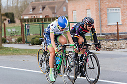 Lisa Brennauer and Annemiek van Vleuten work together to try and bring back Chantal Blaak - Women's Gent Wevelgem 2016, a 115km UCI Women's WorldTour road race from Ieper to Wevelgem, on March 27th, 2016 in Flanders, Belgium.