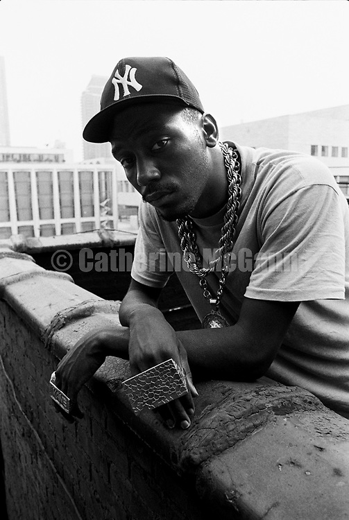 NEW YORK - AUGUST 12:  Rapper Big Daddy Kane poses for a portrait on August 12, 1988 in New York City, New York.  (Photo by Catherine McGann)