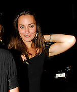 07.JUNE.2007. LONDON<br /> <br /> KATE MIDDLETON ARRIVING AT THE BUTCHERS HOOK RESTURANT IN CHELSEA WITH FRIENDS AT 8.30PM, AND HAVING AN INTIMATE CHAT WITH BEN FODEN, BEFORE LEAVING AT 10.30PM. SHE THEN HEADED ON TO KITTS CLUB IN KNIGHTSBRIDGE WHERE THERE WAS A RAMPANT RABBIT PARTY TO PROMOTE THEIR NEW DVD AND TOYS. KATE WAS JOINED IN THE CLUB BY SOME PORN STARS. KATE THEN LEFT THE PORN PARTY AT THE CLUB AT 1.30AM LOOKING VERY DRUNK AND HER MATE WAS WEARING SOME RABBIT EARS BEFORE THEY ALL WENT BACK TO KATE'S HOUSE.<br /> <br /> BYLINE: EDBIMAGEARCHIVE.CO.UK<br /> <br /> *THIS IMAGE IS STRICTLY FOR UK NEWSPAPERS AND MAGAZINES ONLY*<br /> *FOR WORLD WIDE SALES AND WEB USE PLEASE CONTACT EDBIMAGEARCHIVE - 0208 954 5968*