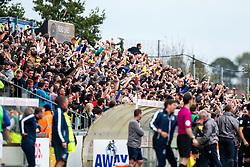 Oxford United fans celebrate going 0-1 up - Rogan/JMP - 14/10/2017 - FOOTBALL - Memorial Stadium - Bristol, England - Bristol Rovers v Oxford United - EFL Sky Bet League One.